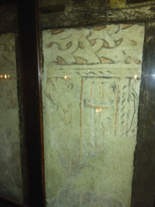 15thc stencil painted walls