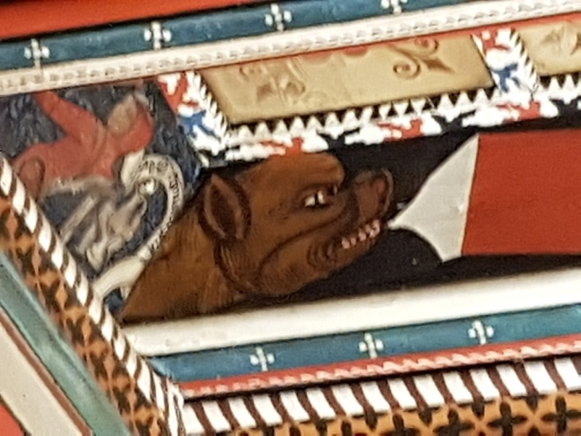 målat medeltida tak