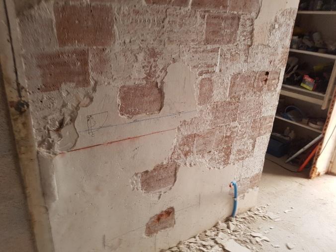 vägg gips medeltid