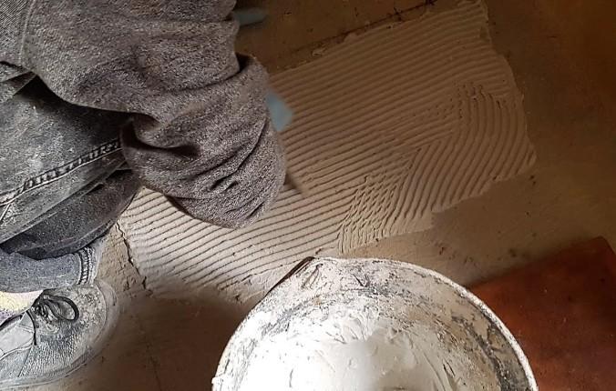 läggning platta golv