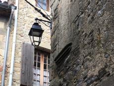 lampadaire rue de la ville